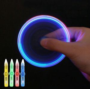 doni a buon mercato di plastica Mini penna luminosa colorato Flash Gyro ruotato luminosa LED Creative Multi bambini funzione della mano filatore giocattoli Fidget penna