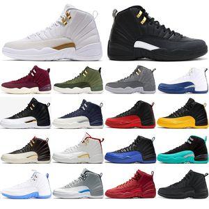 бесплатные носки верхнего качества 12 Gym Red Плей International Flight Баскетбол обувь 12s CNY колледжа спортивные кроссовки спортивная обувь 40-47