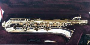 Jupiter JBS-893 Baryton Saxophone E Plat Marque En Laiton Plaqué Argent Corps Laque Or Clés Instruments de Haute Qualité Avec Étui En Toile