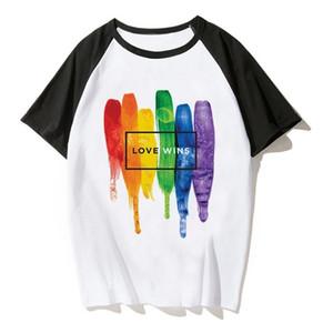 Été Gay Pride Shirt Lesbian Rainbow Lgbt T-shirt Imprimer T-shirt Homme Femmes Casual Tee T Shirt Vêtements Unisexe L'amour est l'amour Lgbt