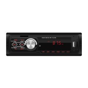 12 V Coche universal Radio estéreo Reproductor de música MP3 FM AUX TF Tarjeta U Disco con control remoto Pantalla de tiempo EQ efecto de sonido 1788E