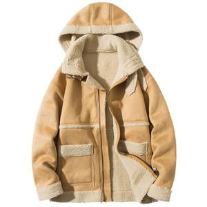Корейская версия 2019 Новый Толстые пальто зимы пальто Красивый Сыпучие Plush пинцетом Ins хлопка Мужская Trend Повседневный Подросток куртка