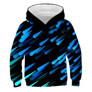 2020 Boys Girl 3d Hoodies Children Colorful Water Drop Leaf Funny Print Hooded Sweatshirts Kids Pullovers Clothes 4-13 Years Old