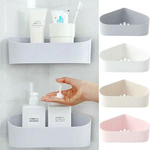Plastica ventosa doccia angolare mensola del bagno Shampoo Doccia mensola del supporto Storage Cucina Rack Organizer
