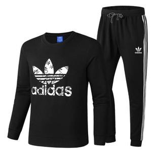 Tracksuits Manntrainingsnazug Set Men Casual Trainingsanzüge Sets O-Ausschnitt Hülsehoodie + Pants Man Outwear Anzug Sweatpant