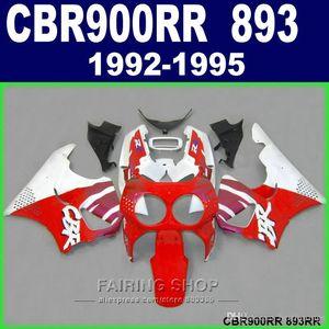 Brand new fairing kit Honda CBR900RR CBR 893 1992-1995 black red flames fairings set CBR 900 RR 09 10 11 OP00
