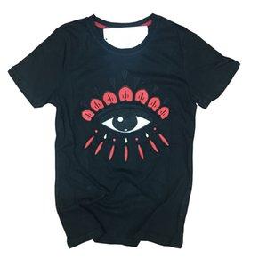 Promotion Herren Designer-T-Shirt Stickerei Tiger-Kopf-T-Shirts mit Buchstaben Rundhals Kurzarm mit Buchstaben Tags und Paket