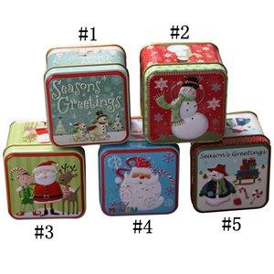 Noël Mini Tin Boîte d'emballage de Noël bocal scellé bonbons Boxs Petit BIDONS Coin Boucles d'oreilles bijoux cadeau cas HH9-A2562