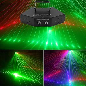 6 Lentes RGB Scan Laser Light / DMX Line Beam Scanning Stage Lighting / DJ Dance Bar Home Party Disco Laser Lighting / Laser Show System