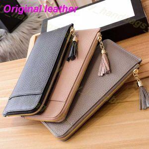 Tasarımcı cüzdan Kadın çanta Fermuar Çanta Kadın Tasarımcı Cüzdan Cüzdan Moda Kart Tutucu Cep Uzun Püskül cüzdan Kutusu ile