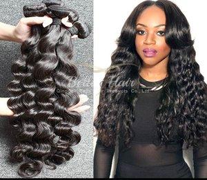 "Brazilian Hair Loose Deep Virgin Human Hair Weaves Extensions 9A Natural Color 8""-34"" 3Pcs Lot Bella Hair in Bulk Drop Shipping"