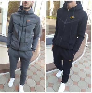 S-XL Hommes marque de mode design sport à capuche et sweat-shirts Automne Hiver Jogger Costume Hommes en plein air Survêtements Set Livraison gratuite