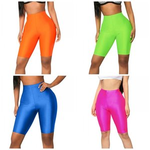 Frauen Fitness wegbrechen Shorts Jelly Farben heben Butts Yoga Wear-Hosen-Trainings-Übungs Hot Short Compression Hosen Bekleidung 12yx E19