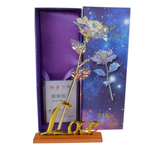 عيد الحب هدية الإبداعية 24K احباط مطلي روز الذهب روز يدوم للأبد الحب الزفاف ديكور عاشق الإضاءة روز