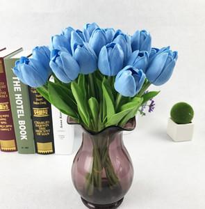 Mini-Tulpe-Blumen PU Tulpen Künstliche Blumen Hochzeit Silk Blumen Dekorative Bouquet Hausgarten-Dekor 16 Farben LQPYW1373