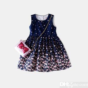 2019 Il progettista Summer Brand Girl Dress Bambino Bambini Abbigliamento per bambini Principessa Stampa Abiti Abiti Roupa Menino Cotton Party Dresses-7