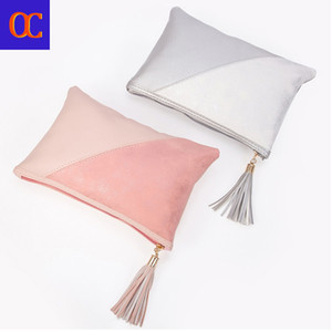 Old Cobbler Simple Zipper Bag Style Bags Delivery Fashion Tassels Women's Tote Bohemian Cosmetic Color Free Double Vpfil