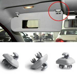 1pc Coche Interior Sol Visor Hook Soporte de clip para Audi Q3 Q5 Q7 A1 A3 A4 A5 Gris