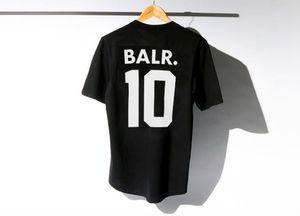 New elevador de um T-shirt BALR encabeça BALR menwomen t-shirt 100% do algodão Futebol sportswear futebol camisas BALR roupas de marca