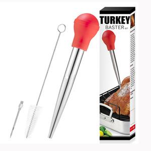 304 Paslanmaz Çelik baharat Pompa Türkiye Baster Seti Tavuk eti Barbekü Gıda Lezzet Baster Şırınga Tüp Boru Herb Baharat Araçları