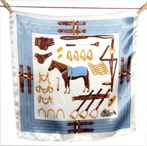 Sommer Schal weibliche Seide wilde professionelle kleine quadratische Handtuch elegante quadratische Handtuch drucken Floral Simulation Seide LJJJ29