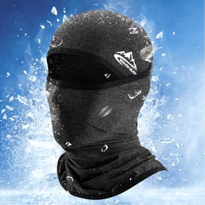 Summer Cool Ice Silk Balaclava For Men Multi-function Riding Full Face Cover Outdoor Breathable Anti-dust Sun-proof Hood Hat New