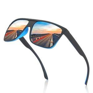 Quadro preto Matte óculos polarizados dos homens / mulheres Anti-derrapante Outdoor Homem Sports / óculos Weman Sunglass poeira / Eyewear / Shades Preto Matte