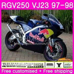 Bodys For SUZUKI SAPC RGV-250 VJ22 VJ21 RGV 250 97 98 99 Frame 19HM.61 RVG250 VJ23 RGV250 VJ 21 22 23 1997 1998 1999 Top Blue yellow Fairing
