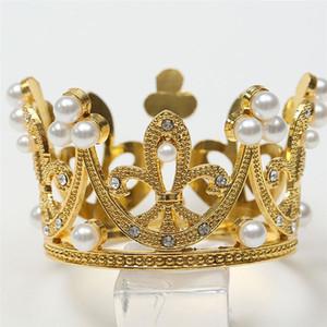 Kız 2adet Kek Taç Çocuk Taç Birthday Cake Dekorasyon Şık Doğum Headdress Topper Çocuklar (Altın + Gümüş)