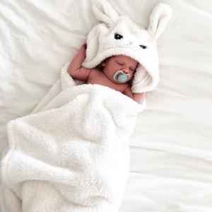 Nouveau-né Bébé Garçon Fille De Dessin Animé Animal À Capuche Enfant Animaux Styling À Capuche Peignoir En Peluche Recevant La Couverture Dormir Wrap Swaddle