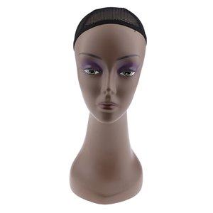 Mannequin femminile modello realistico morbido Mannequin testa con il busto per parrucche gioielli sciarpa Display Stand