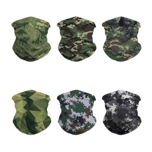 Camouflage Digital Print Outdoor Hiking Scarf Mask Seamless Cap Wristband Sweat-absorbing Sports Breathable Mask Magic Headscarf