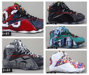 Nike Air Jordan 12  Nuovo LeBron 12 PS Elite High Cut stilista di pallacanestro Scarpe Uomo comode scarpe da bambino dei capretti di sport di buona qualità