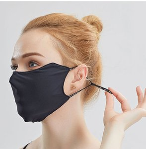 Black Outdoor Sports Knitted Dust Masks Summer Sunscreen Breathable ice silk protection double mask free shipping DHL