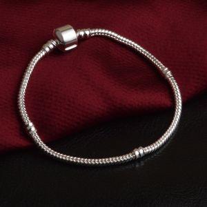 Fabrik Wholesale 925 Sterlingsilber-Armbänder 3mm Schlangenkette für Pandora-Charme-Korn-Armband-Armband Schmuck-Geschenk für Männer Frauen