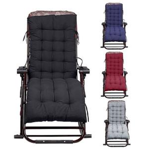 155cm Fauteuil à bascule Chaise rembourrée Siège Chaise longue Coussin en rotin Matelas Canapé de jardin Véranda Sun Recliner