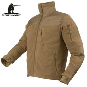 Warm Jacket Mege Marca Autunno Inverno Abbigliamento militare tattico di combattimento dell'esercito degli uomini di Polartec Fleece Patchwork Maschio Frock Giacca T191223