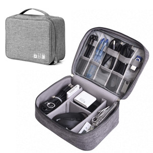 Electronics Organizer, Digital Accessories Cable Organizer Bag Travel Cable Storage Bag Protects USB Drives,