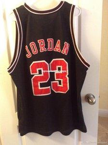 Ucuz Custom Michael Hava Mesh Basketbol Siyah Jersey Gömlek # 23 Retro Erkek XS-6XL Dikişli basketbol formaları NCAA