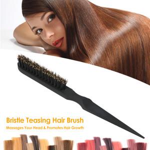 Ana Salon Kullanımı için Doğal Domuz Kılı Saç Fırçası alay Saç Tarak Saç Derisi Masaj Hairbrush Anti-statik Sap Saç Tarak