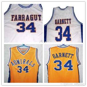 Günstige # 34 Kevin Garnett Jersey, Farragut Career Academy Admiral Basketball Jersey, XXS-6XL Garnett Throwbacks Basketball-Trikots