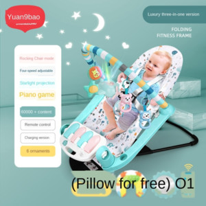 Infant two-in-one folding fitness frame children rocking chair al toy early education early education acousto-optic baby foot piano toy
