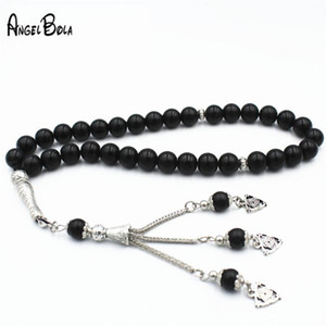 Muslim Islamic Tasbih Black Crystal Prayer Beads Bracelet Round Shape Beads 33 Islamic Beaded Adults Bracelet Rosary