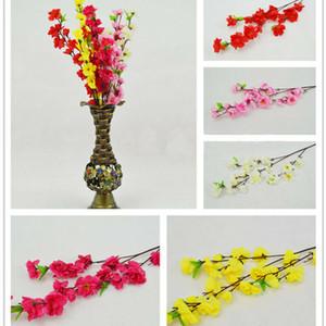 5Pcs Simulation Peach Blossom Flower Head Home Decor DIY Wedding Party Ornament