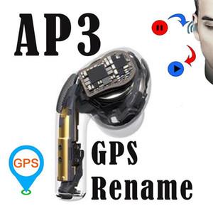 H1 chip di AP3 Pro cuffie un multiplo validi seriali cuffie ricarica Casi Numero wireless Bluetooth auricolari Stati Uniti Regno Unito Versione rinominare GPS Hea