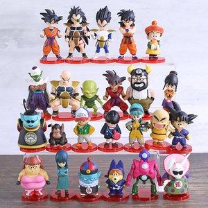 Dragon Ball Super WCF Son Goku Gohan Bulma Krillin Kaio Bubbles Ox-King Chichi Pilaf Shu Mai PVC Figures Toys 8pcs set Y200703