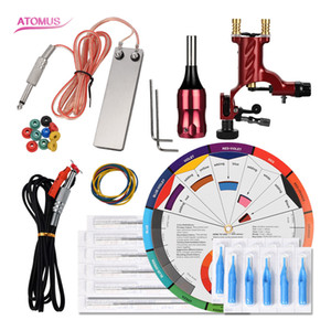 Liner And Shader Set Cartridge Professional Complete Tattoo Machine Liner And Shader Pen Professional Motor Kit Tattoo Tools Kits