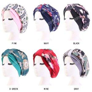 Müslüman Kadınlar Geniş Ipeksi Uyku Türban Şapka Kanser Kemo Kasketleri Kaput Kap Bandajlar Şapkalar Wrap Kaplama Saç Aksesuarları