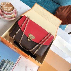 Chegada nova da bolsa Placide L mulheres teste padrão de flor cadeia de bolsas tiracolo senhoras bolsas saco com caixa