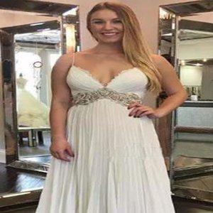 Spaghetti Strap Simple Vintage Beach Style Bridal Wedding Dress Made in China Boho Summer Beach Wedding Dress Lebanon Wedding Dress